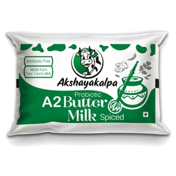 akshayakalpa A2 Probiotic Butter Milk Spiced - 200ml