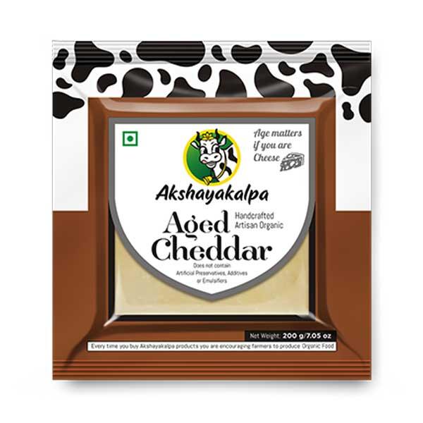 Organic Aged Cheddar - 200g