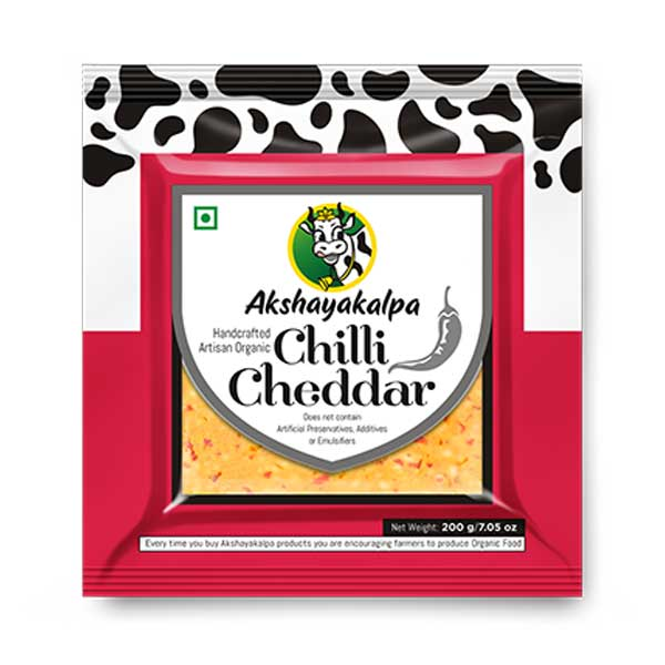 Organic Chilli Cheddar - 200g