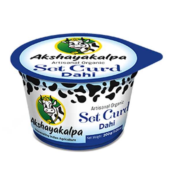 akshayakalpa Organic Set Curd - 200g